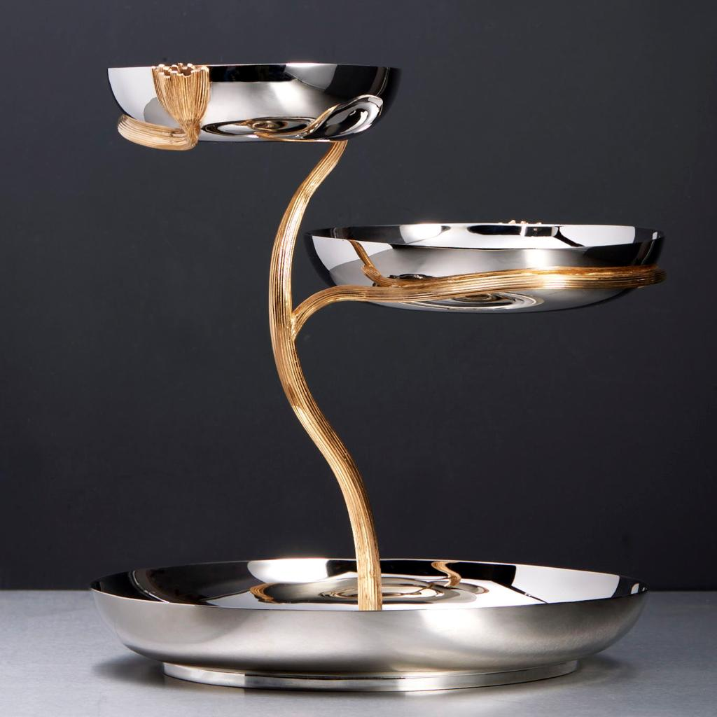 Deco leaves collection fine metals at lobjet