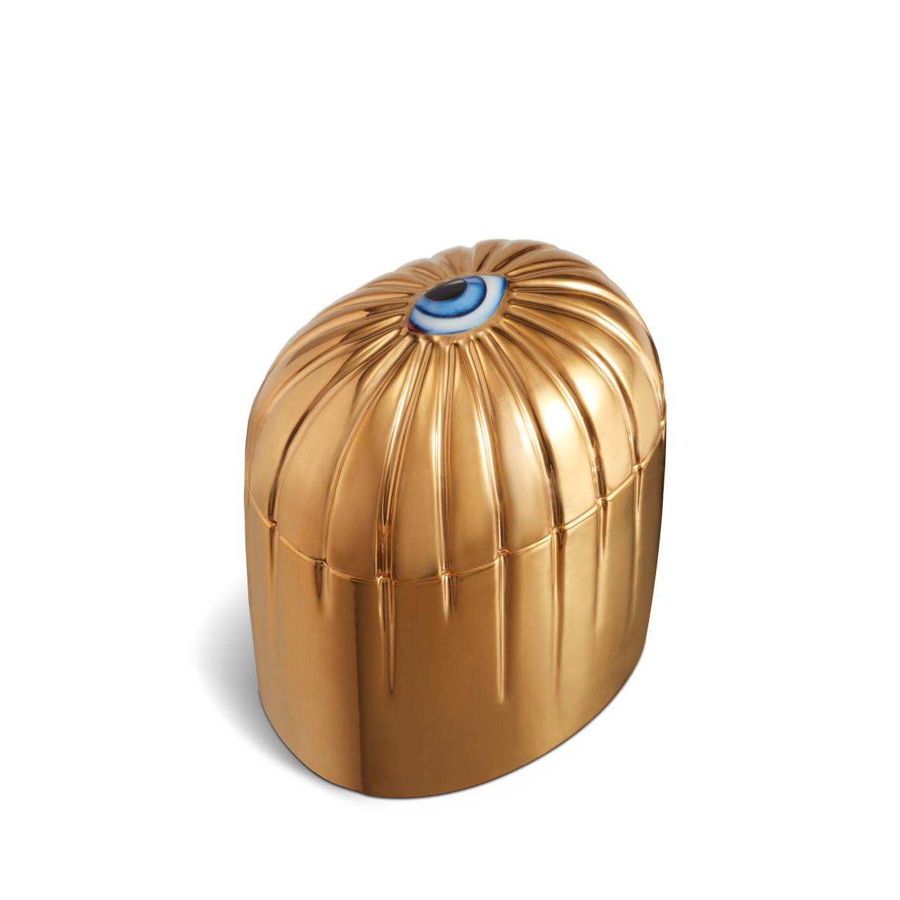 lito candle in gold and blue by lobjet - Little Luxuries Gift Guide - Good Things in Small Packages